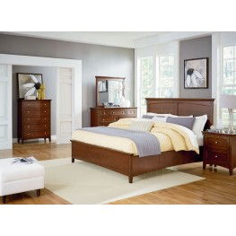 Cooperstown Warm Spiced Cherry Panel Bedroom Set