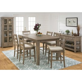 Slater Mill Pine Counter Height Dining Room Set
