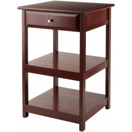 Delta 1 Drawer Walnut Printer Table