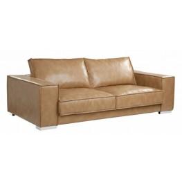 Baretto Peanut Leather Sofa