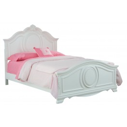 Jessica Clean White Full Panel Bed