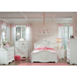 Jessica Clean White Youth Panel Bedroom Set