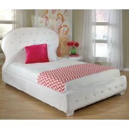 Marilyn White Youth Upholstered Bedroom Set