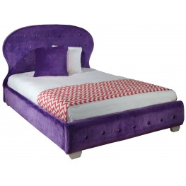 Marilyn Purple Twin Upholstered Bed