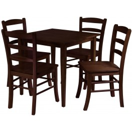 Groveland Antique Walnut Square Dining Set