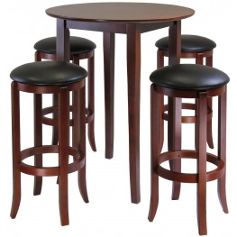 Fiona Antique Walnut Round Pub Set