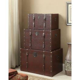950164 Brown Storage Trunk Set