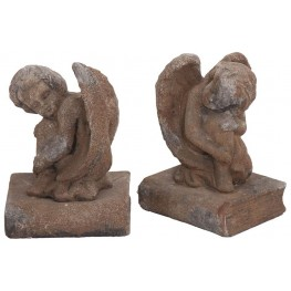 Stone Cherub Bookends Set of 2
