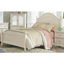 Camellia Marshmallow Paint White Twin Poster Bed