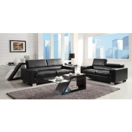 Vernon Black Living Room Set