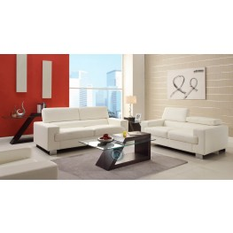 Vernon White Living Room Set