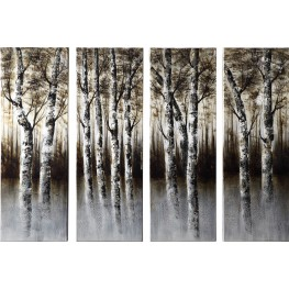 Through the Woods Wall Art 4 Piece Set