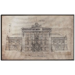 Architecture Sketch Wall Art With Frame