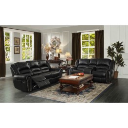 Center Hill Black Double Reclining Living Room Set