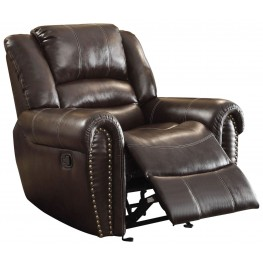 Center Hill Brown Glider Reclining Chair