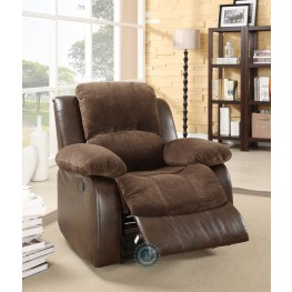 Cranley Dark Brown Reclining Chair