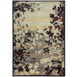 Gray and Red Barcelona Large Rug