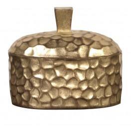 Hammered Gold Decorative Box