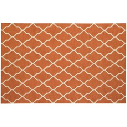 Orange and White Danberry Large Rug