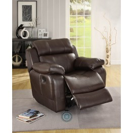 Marille Dark Brown Glider Reclining Chair