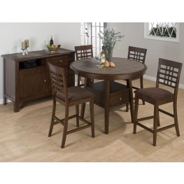 "Caleb Brown 48"" Round Counter Height Dining Room Set"