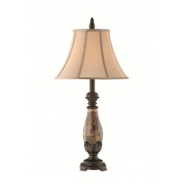 Italian Calico Marble Lamp Set of 2