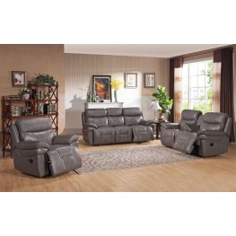 Summerlands Smoke Grey Leather Reclining Living Room Set