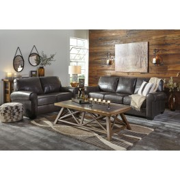 Canterelli Gunmetal Living Room Set