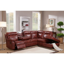 Hariston Dark Caramel Reclining Sectional