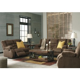 Tulen Chocolate Reclining Living Room Set