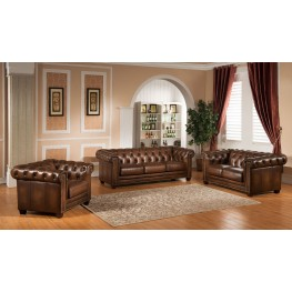 Stanley Park II Brown Leather Living Room Set