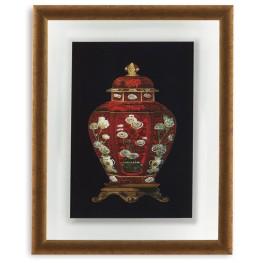 Red Porcelain Vase I Wall Art