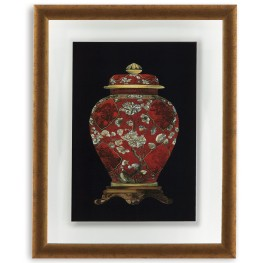 Red Porcelain Vase II Wall Art