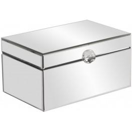 Clear Mirrored Small Decorative Box