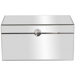 Clear Mirrored Large Decorative Box