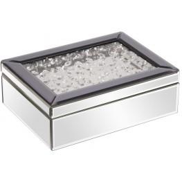 Silver Mirrored Jewelry Box