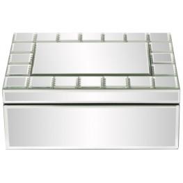 Silver Mirrored Rectangular Jewelry Box