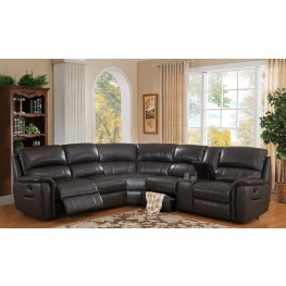 Camino Charcoal Grey Reclining Sectional