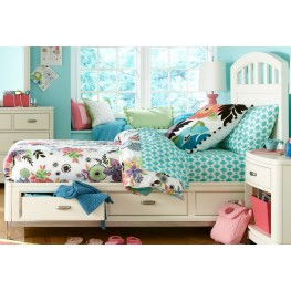 Park City White Twin Platform Storage Bed