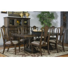 Canyon Creek Vintage Oak Extendable Trestle Dining Room Set