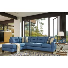 Kirwin Nuvella Blue LAF Sectional