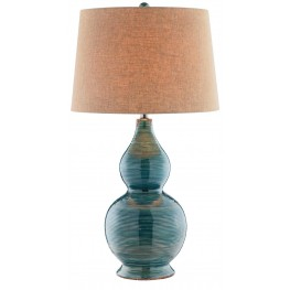 Harriett Turquoise Blue Table Lamp