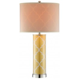 Casablanca Buttercup Yellow Table Lamp