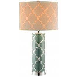 Casablanca Seafoam Green Table Lamp