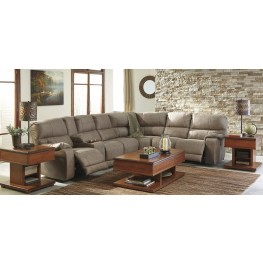 Bohannon Taupe Power Reclining Sectional