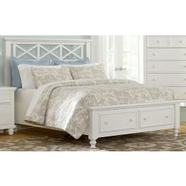 Ellington White Queen Garden Storage Bed