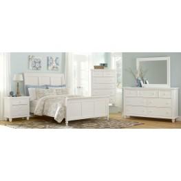 Ellington White Sleigh Bedroom Set