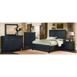 Timber Mill Charcoal Timber Storage Bedroom Set