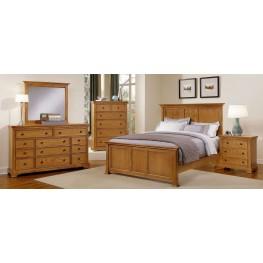 Forsyth Medium Oak Panel Bedroom Set