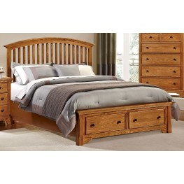 Forsyth Medium Oak King Arched Storage Bed